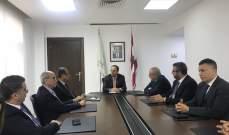 بطيش استقبل وفداً من لجنة الطيران في نقابة أصحاب وكالات السفر والسياحة