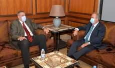جابر استقبل كوبيتش وبحث معه في الوضع الصعب الذي يمر فيه لبنان