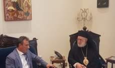 عوده التقى السفير القبرصي الجديد في زيارة بروتوكولية