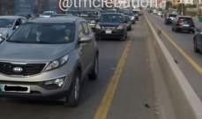 حركة مرور كثيفة من أنفاق المطار لخلدة ومن انطلياس باتجاه نهر الموت