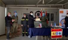 اختتام دورة تدريبية للكتيبة الاسبانية حول مكافحة الكورونا