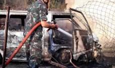 النشرة: نجاة سائق حافلة من الموت في عبرا بعد اشتعال حافلته