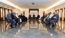 اللواء عثمان التقى رئيس الصليب الأحمر ورابطة قدامى القوات المسلحة وسياسيين