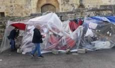 النشرة: الرياح الشديدة تقتلع خيم الإعتصام في حاصبيا