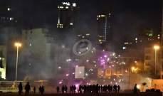 استمرار المواجهات في وسط بيروت وسقوط المزيد من الجرحى