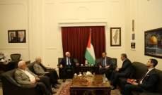 عزم الاحمد اطلع السفير المصري على الاوضاع في القدس