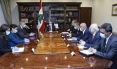 الرئيس عون التقى كوبيتش وابلغه خطورة الخروقات الاسرائيلية المستمرة للقرار 1701