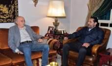 الجديد: جنبلاط اتصل بالحريري واقترح عليه ان يستقيلا سويا من الحكومة