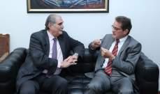 جريصاتي عرض الاوضاع العامة في لبنان والمنطقة مع سفير ألمانيا