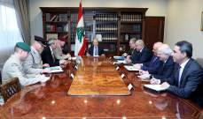 الرئيس عون: الازمة الاقتصادية والمالية التي يعاني منها لبنان هي موضع معالجة