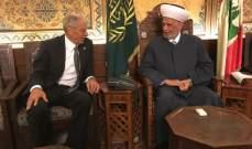 المفتي دريان استقبل مصطفى هاشم وسفيرة النرويج ووفدا من حزب النجادة