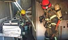 إخماد حريق داخل مطعم على الطريق البحرية في ساحل علما جونية