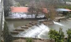النشرة: ارتفاع منسوب مياه الحاصباني وحدوث فيضانات في المنتزهات