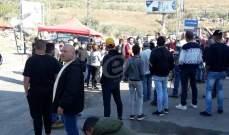 النشرة: محتجون أعادوا إقفال الطريق التي تربط مرجعيون بحاصبيا