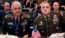 رئيسا الأركان التركي والأميركي بحثا بالأوضاع الأمنية في سوريا وأهمية التعاون الثنائي