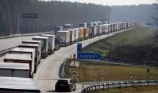 تكدس الشاحنات والسيارات على الحدود بين الدول الأوروبية بسبب فيروس كورونا