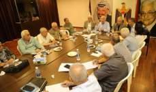 الأحمد عقد اجتماعا موسعا مع قيادة واقليم حركة فتح في لبنان
