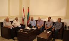 سعد التقى وفدا من لجان الأحياء والقواطع في مخيم عين الحلوة