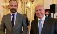 مخزومي التقى رئيس وزراء فرنسا وأكد أهمية أن تتسم الموازنة بالواقعية وتؤمن الإصلاح
