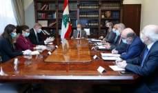الرئيس عون التقى المنسق الخاص للأمم المتحدة