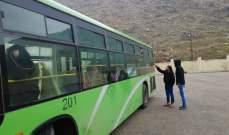 النشرة: انطلاق الحافلة التي تقل دفعة من النازحين السوريين من شبعا الى بلدهم