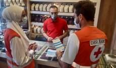 النشرة: متطوعو الصليب الأحمر اللبناني جالوا بسوق صيدا للتوعية من كورونا