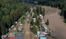 تحول بلدة في ولاية كاليفورنيا إلى جزيرة خلال يومين