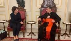 الراعي استقبل سفيرة فرنسا الجديدة في زيارة بروتوكولية تعارفية