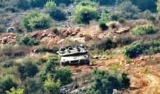 ثلاث دبابات اسرائيلية خرقت السياج التقني في ميس الجبل