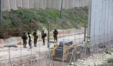 الجيش الاسرائيلي واصل بناء الجدار الاسمنتي في عديسة