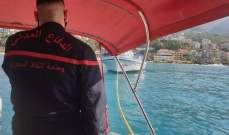 الدفاع المدني: سحب زورق صيد على متنه شخصين إلى ميناء في حارة صخر بعد تعطل محركه