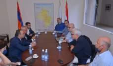 وفد جمهورية أرمينيا يبحث مع مركز تاكايان في بيروت تحديات الشعب اللبناني