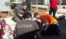 الدفاع المدني: جريح اثر حادث سير في بئر حسن