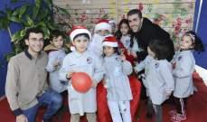 أطفال ميتم ومدرسة مار شربل حريصا يحتفلون بالعيد في جامعة الروح القدس