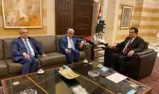دياب بحث مع رئيس جمعية المصارف التطورات السياسية والمالية والمصرفية