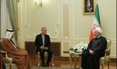 روحاني لوزير خارجية قطر: أميركا تعي الخطأ الجسيم الذي ارتكبته وستدفع الثمن باهظا