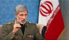 حاتمي: نحذر الأميركيين من أي خطأ في الحسابات ورد إيران سيكون ساحقا ضد أي اعتداء