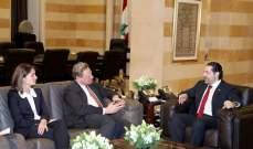 الحريري عرض مع كويهلر ولاسن مشاريع الحكومة لمؤتمر سيدر