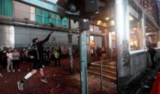 إعادة فتح مترو هونغ كونغ بشكل جزئي بعد أعمال العنف ليلا