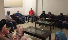 سعد التقى لجنة أهالي التلامذة الفلسطينيين بمتوسطة الشهيد معروف سعد الرسمية