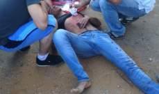 سقوط جريح نتيجة بإنزلاق دراجته على طريق غزير كسروان