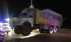 النشرة:مقتل رجل واصابة آخر اثر وقوع كابينة شاحنة عليهما بعربصاليم جرجوع