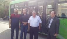 النشرة: انطلاق دفعة جديدة من النازحين السوريين من النبطية باتجاه المصنع