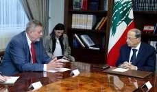 الرئيس عون ناقش مع كوبيش الإستعدادات للتقرير المقبل لغوتيريس بشأن تنفيذ القرار 1701