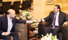"""الحريري تسلم من الرياشي دعوة لحضور قداس """"شهداء القوات"""""""