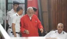 """أول حكم نهائي بالمؤبد لمرشد """"الإخوان"""" في مصر"""