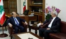 الرئيس عون استقبل مدير عام قوى الامن الداخلي السابق اللواء بصبوص