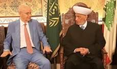 المفتي دريان: ذكرى إحراق المسجد الأقصى هي ذكرى أليمة وبشعه تنم عن حقد المحتل
