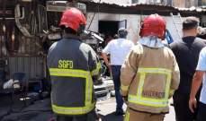 الدفاع المدني: إخماد حريق داخل بؤرة لتجميع قطع السيارات على طريق المطار