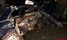 النشرة: 5 جرحى بحادث سير مروع وقع على اوتوستراد الصرفند